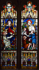 Holy Kinship: Blessed Virgin and the young Christ, St Mary Cleophas and the young St Jude, St Simon and St James (artist unknwn, early 20th Century)