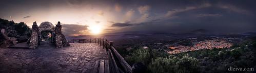Alhama de Almería, puesta de sol desde el Cerro de La Cruz