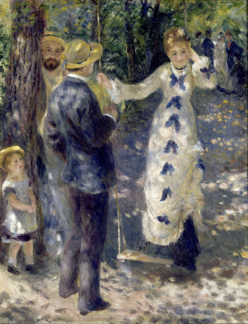 The Swing by Pierre-Auguste Renoir, 1876