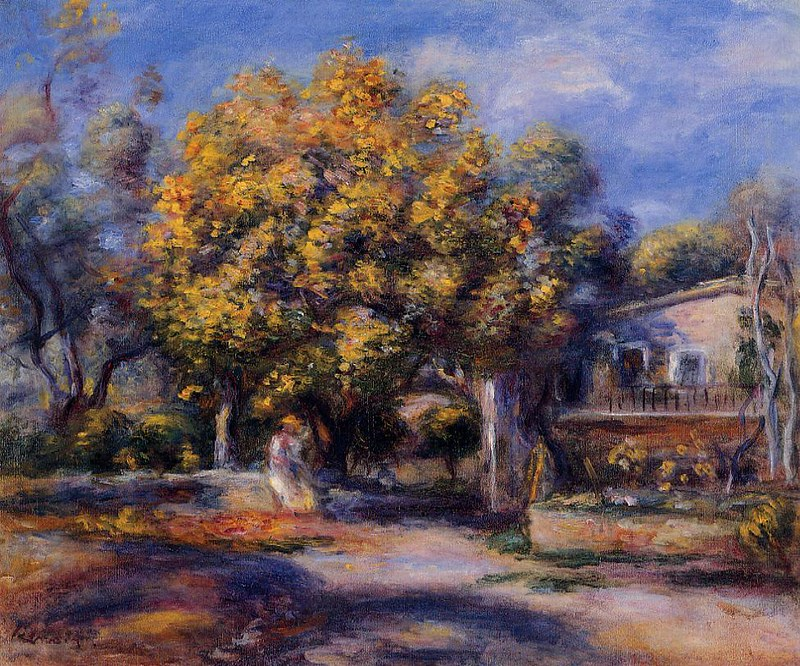 Houses at Cagnes by Pierre Auguste Renoir, 1905