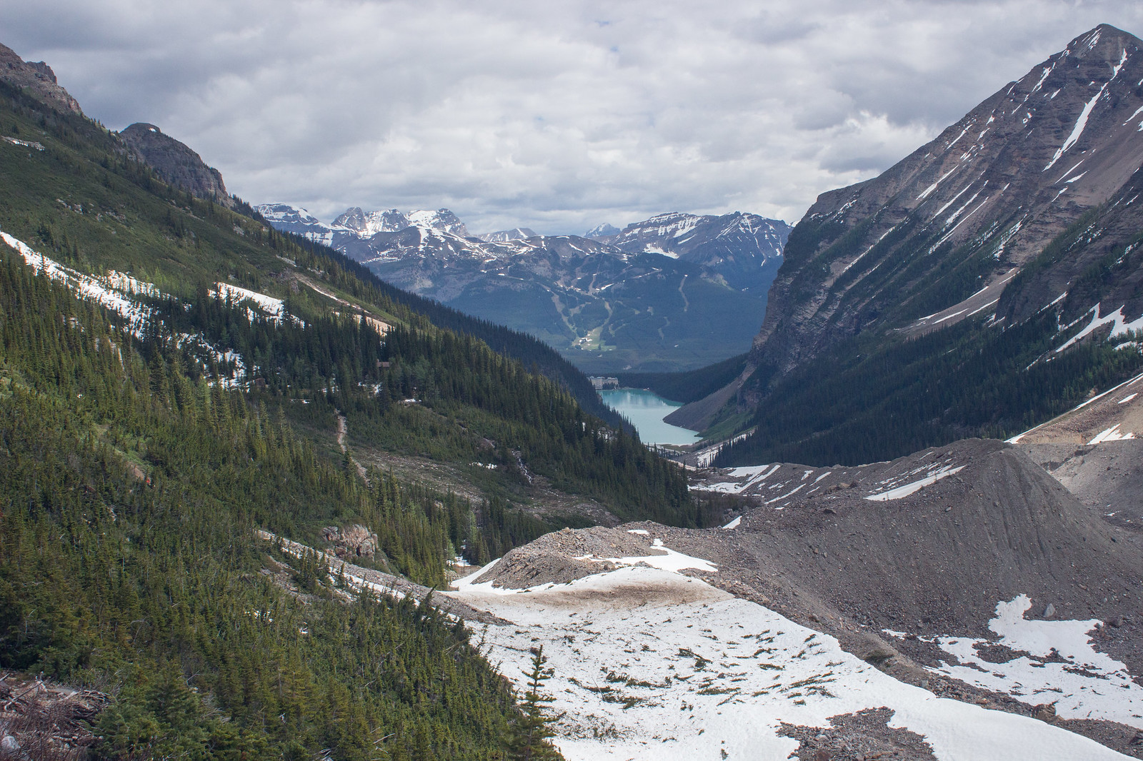 Lake Louise from Plain of Six Glaciers