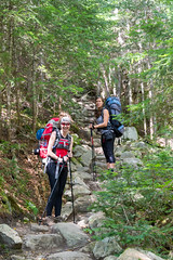 Trail typique vers le Mont Bond