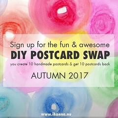 iHanna's DIY Postcard Swap Autumn 2017 - sign up now!