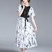 INK PAINTING NEW TRENDY DRESS FOR LADIES
