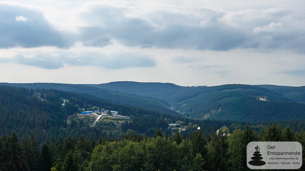 Ausblick auf Sportstätten vom TREFF Hotel Panorama Oberhof