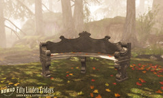 NOMAD // Autumn Garden Bench & Scattered Leaves for FLF!