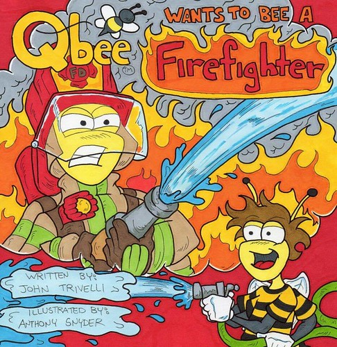 QBee wants to be a firefighter. Art by Anthony Snyder