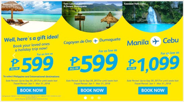 Cebu Pacific Air September End Sale