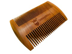 Wooden or plastic beard comb by Striking Viking