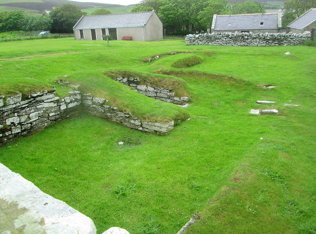 Earl's Bu, Orphir, Orkney, Drinking Hall from Cemetery Wall