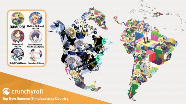 mapa infográfico da Crunchyroll