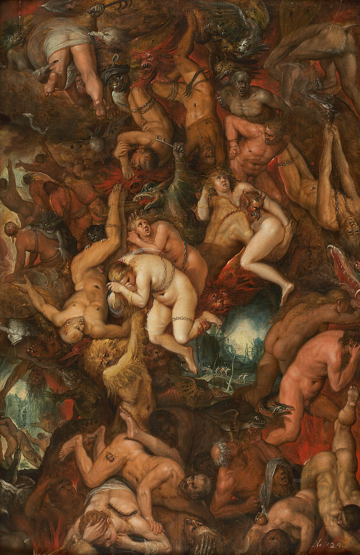 Frans Francken the Younger - The Damned Cast into Hell, 15th C
