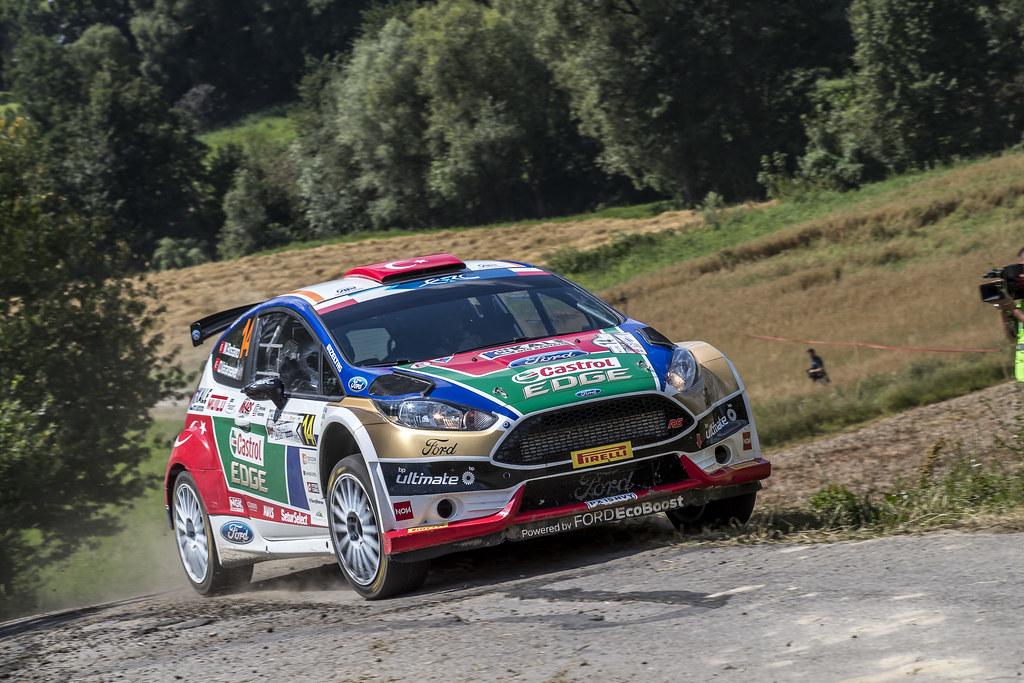 14 BOSTANCI Murat (TUR) VATANSEVER Onur (TUR) Ford Fiesta R5 action during the 2017 European Rally Championship Rally Rzeszowski in Poland from August 4 to 6 - Photo Gregory Lenormand / DPPI