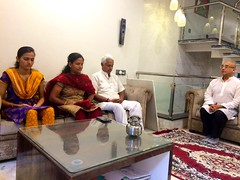 I enjoyed discussing Scientific Meditation with my friend and his family.