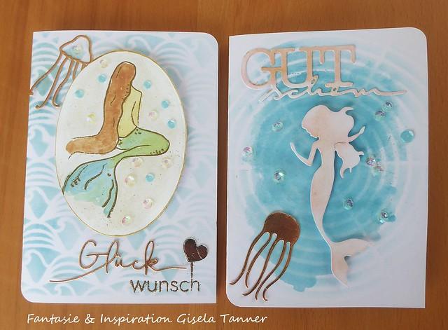 Meerjungfrauengeburtstagsgrüße Nr. 2
