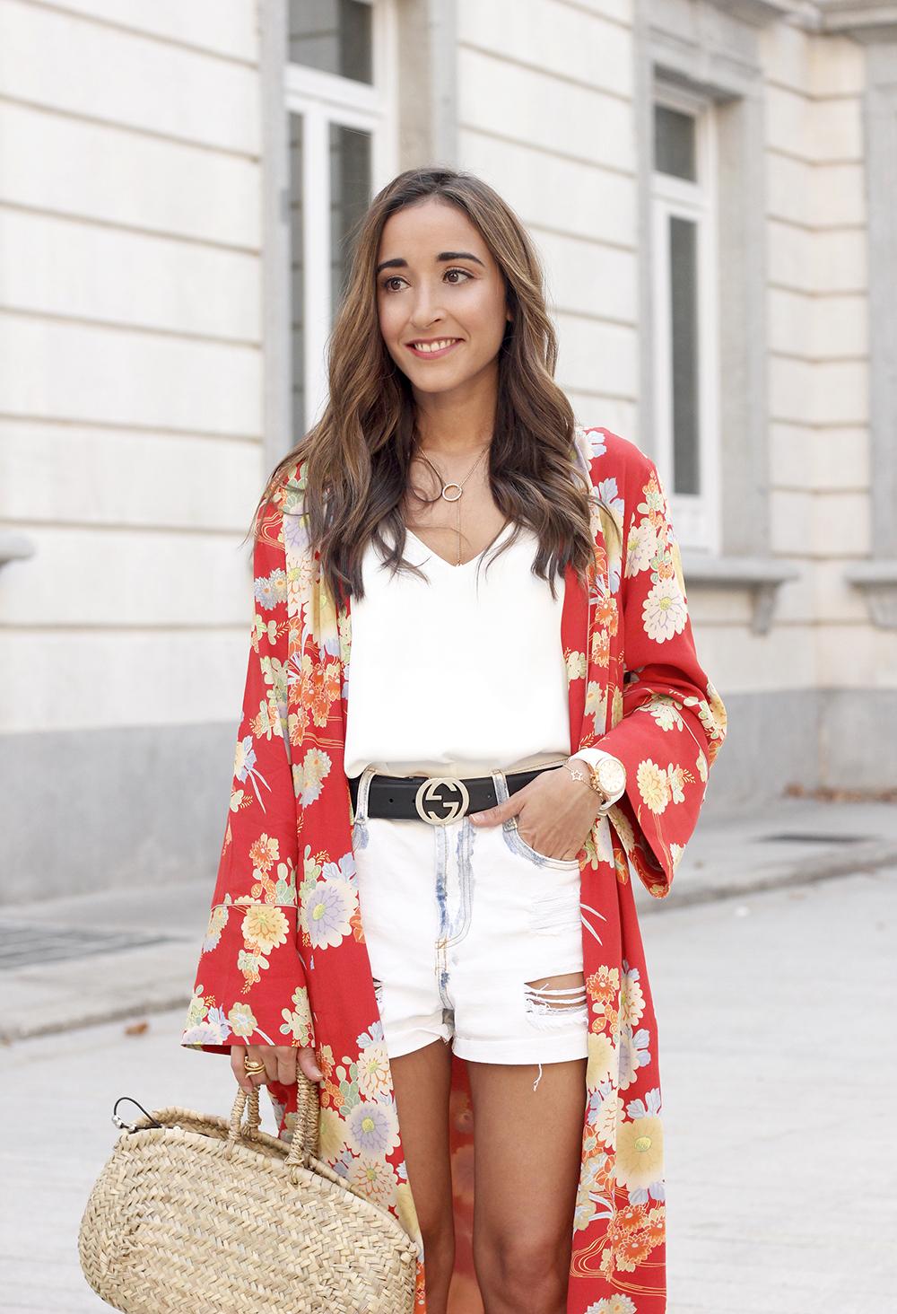Flowered maxi kimono denim short heels summer girl style fashion12