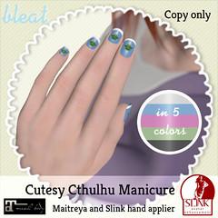 Bleat - Cutesy Cthulhu manicure