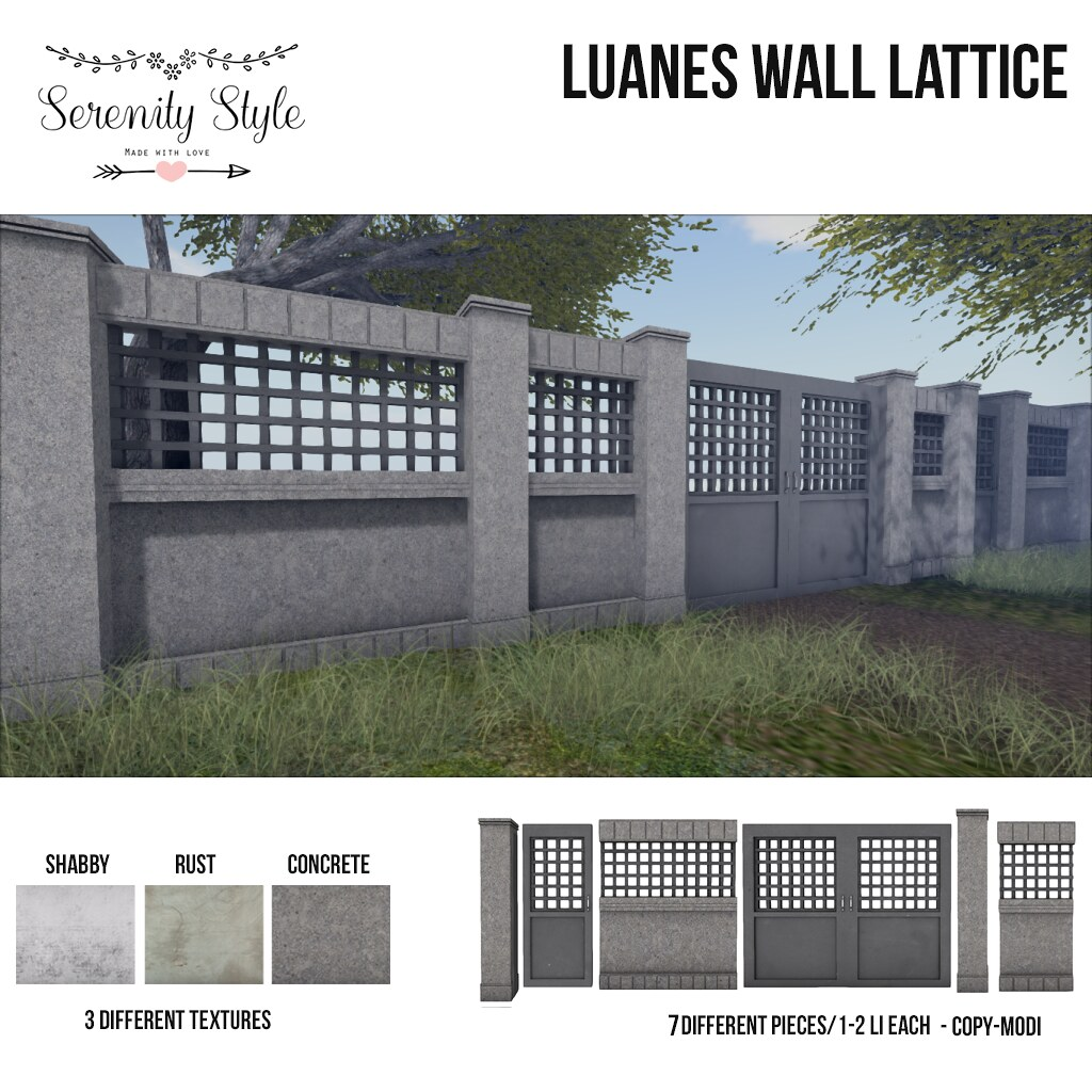Serenity Style- Luanes Wall Lattice - SecondLifeHub.com