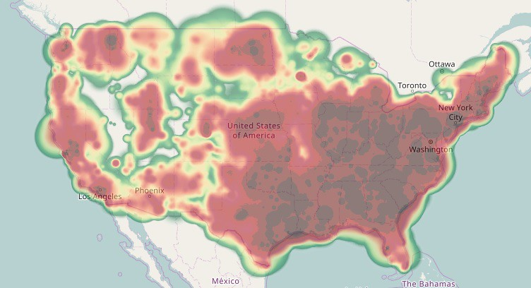US Contributor Heat Map