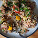 Lemon-parsley rice pilaf with beef and summer vegetables