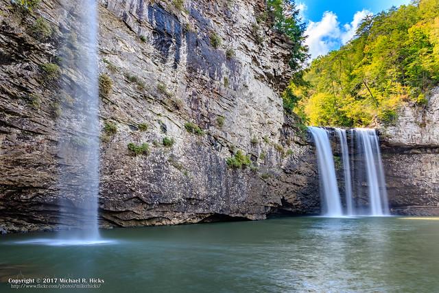 Cane Creek Falls [85'] & Rock House Falls [125']