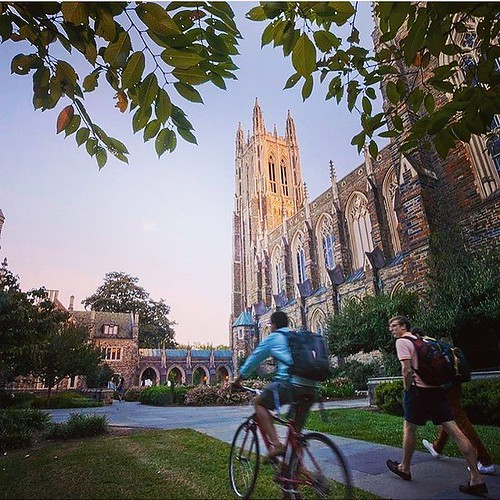 Mid-September evenings on campus.