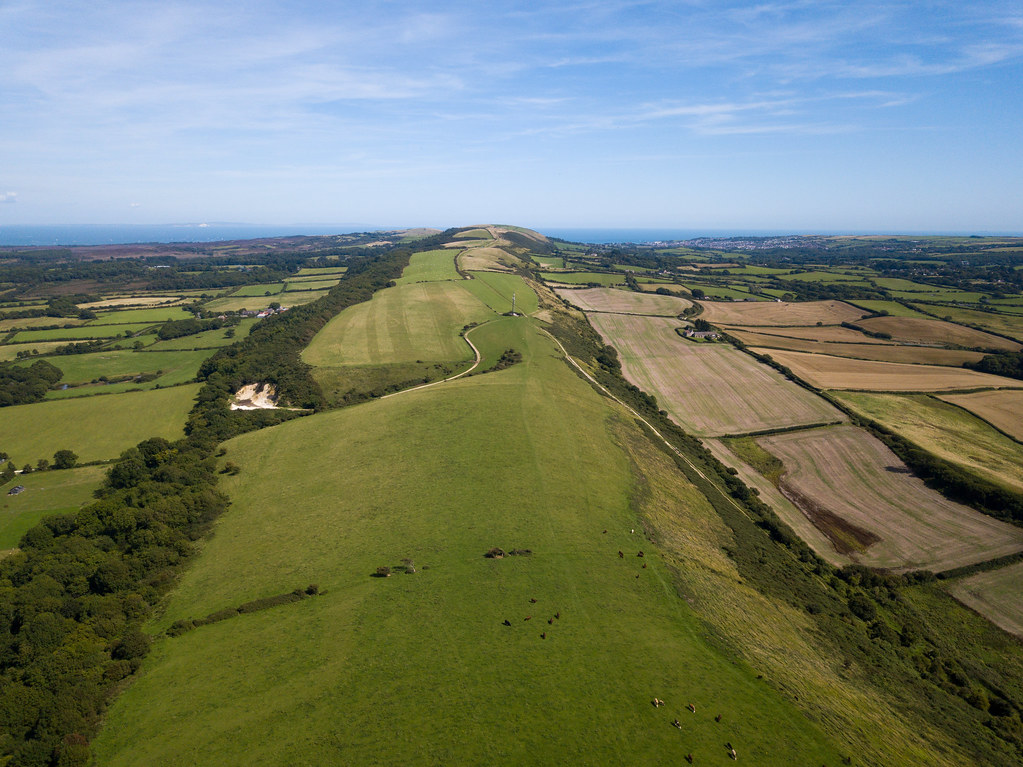 along the purbeck hills - Click to show full size