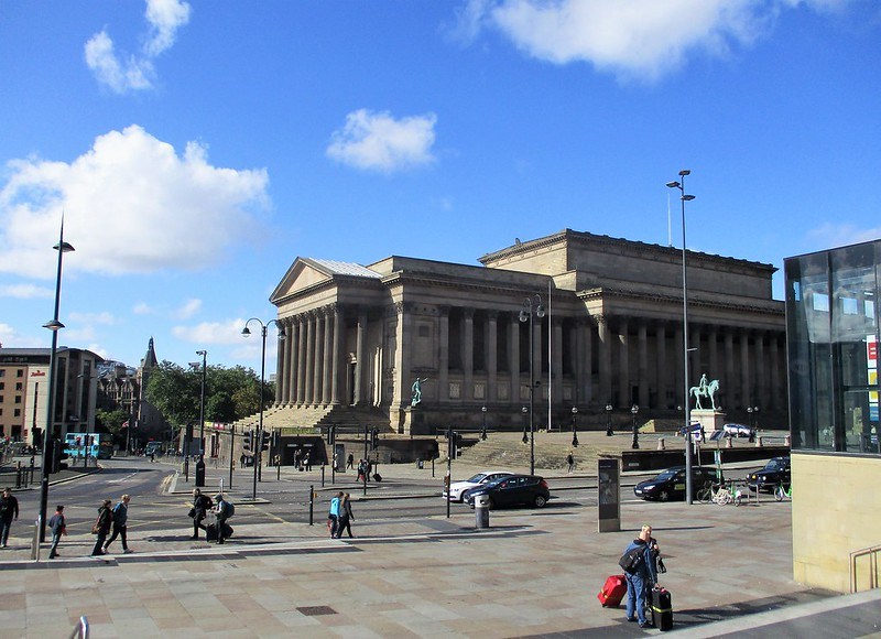 St George's Hall, Liverpool from Lime Street Station