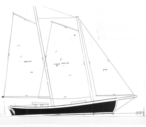 Schooner for Jerry Taylor- Sail Plan