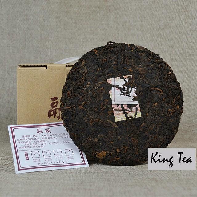 Free Shipping 2016 ChenShengHao RongPu Cake YunNan MengHai Chinese Organic Puer Puerh Ripe Cooked Tea Shou Cha