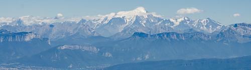 Le Mont-Blanc vu du Grand Colombier