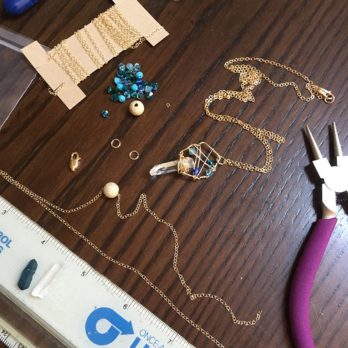 Jewelry making by artist Vanessa Pineda Fox