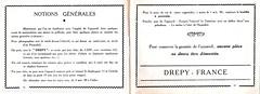 André Pierrat (P.  A. C.), Drépy, manuel d'utilisation (France, 1945 - 1950)