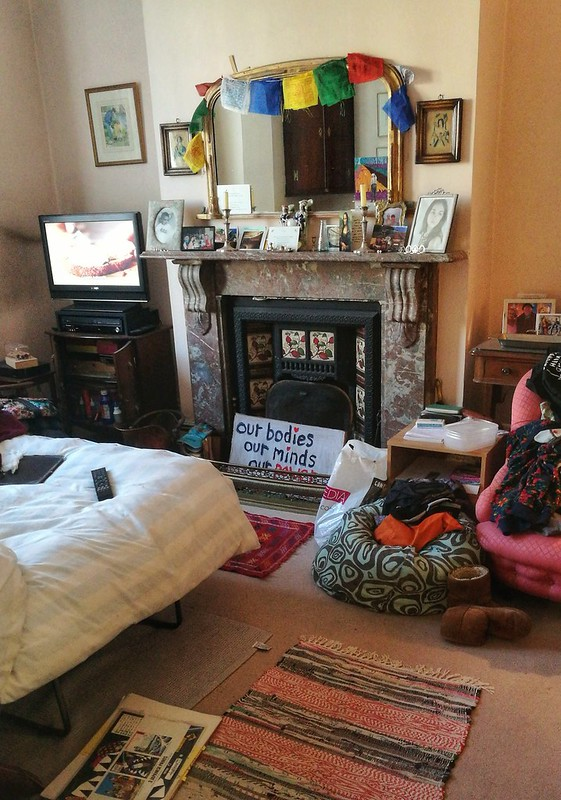 Inside a living room in London