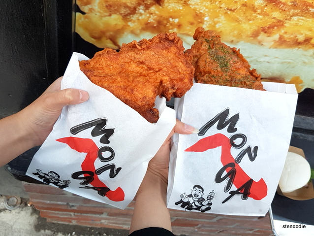 Monga Fried Chicken two types