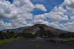 View of the Temple of the Moon at Teotihuacan