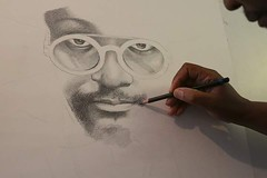 Progress pic from a couple weeks ago #pastelpencils #iamwill #drawing Will.I.Am #portrait new #exhibition