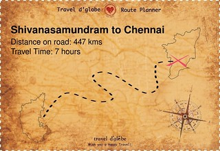 Map from Shivanasamundram to Chennai