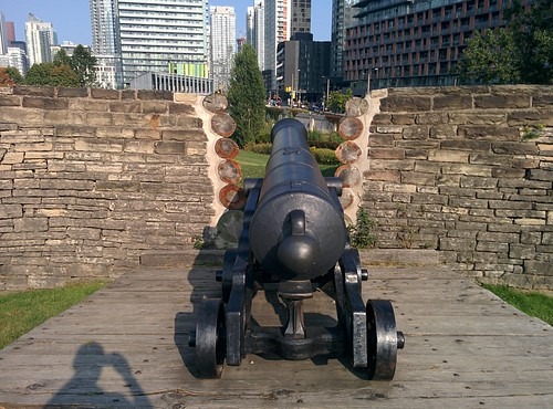 At Fort York underneath the city (4) #toronto #fortyork #skyline #tower #gardinerexpressway