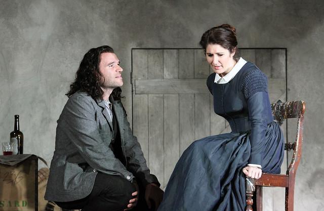 Michael Fabiano as Rodolfo and Nicole Car as Mimì in La bohème,  The Royal Opera Season 2017/18 © ROH 2017. Photograph by Catherine Ashmore.