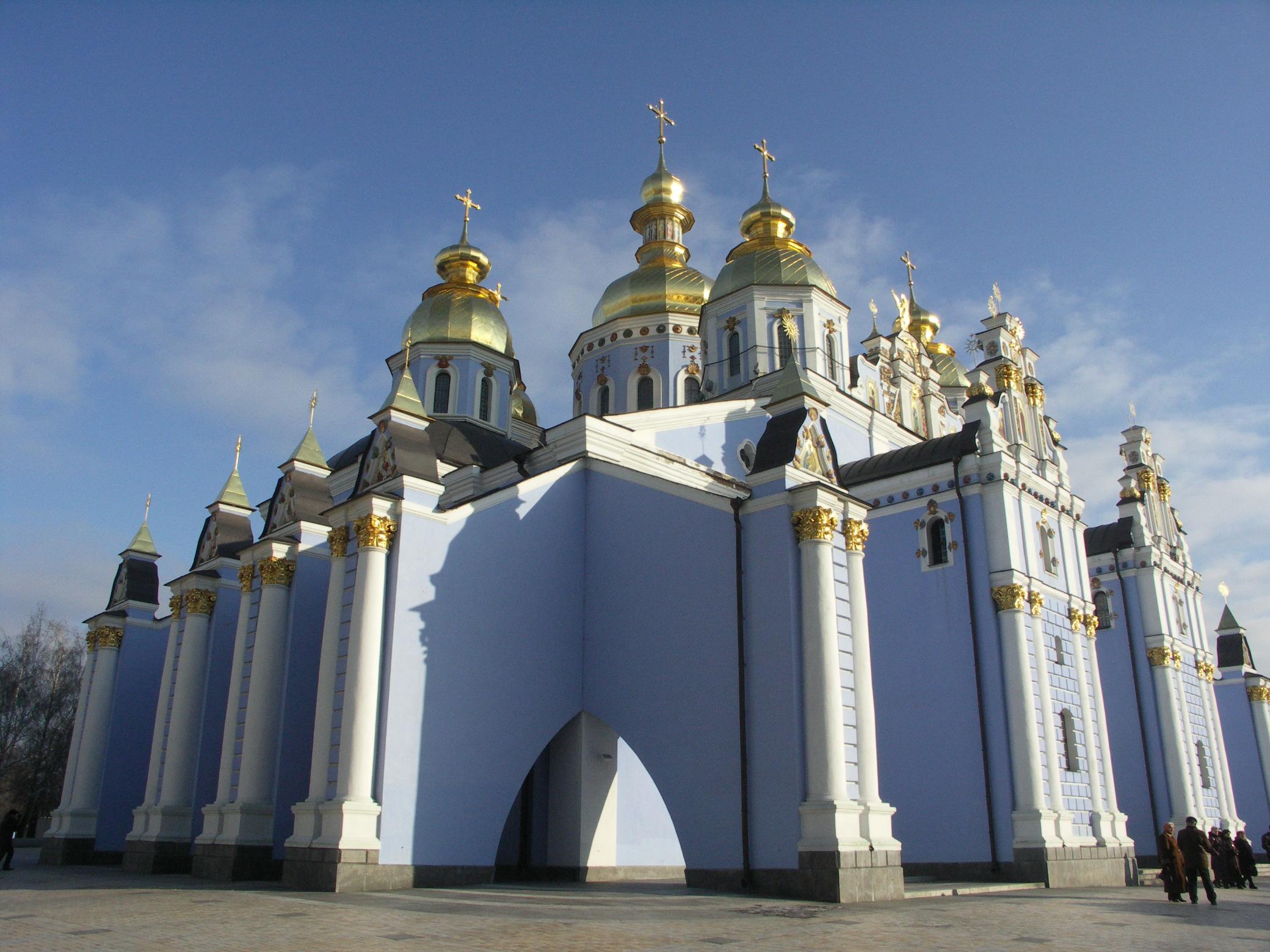Kiev 2006 - 056: Monastero Mikhailovskiy Zlatoverkhiy del XII sec. (Cattedrale Ortodossa di San Michele Arcangelo)