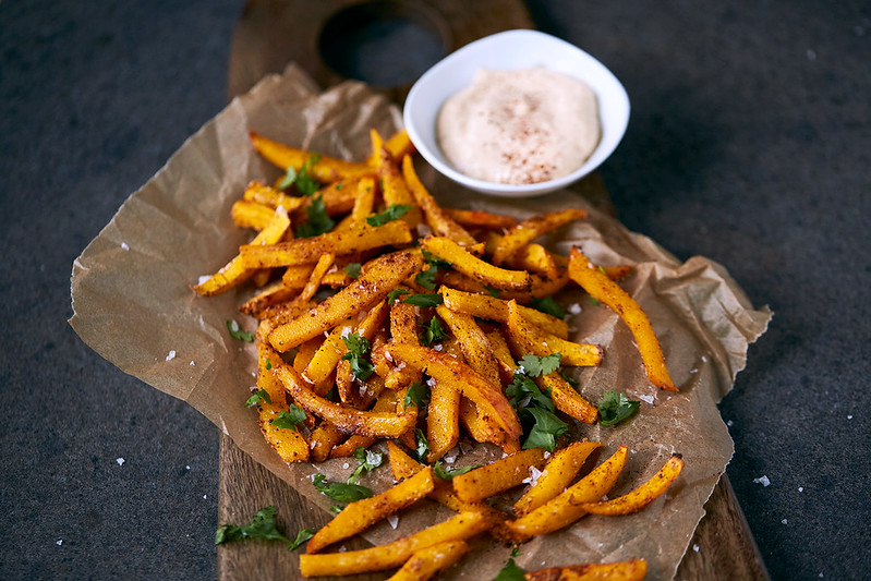 Spicy Pumpkin Fries {Paleo + Whole30}
