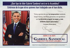 Gabrieal Sandoval card with President Obama