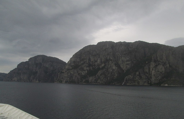 Lysefjord, Mountain and Waterfall