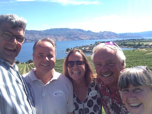 Kelowna wine tour with the 4 of us and Bryce the tour guide