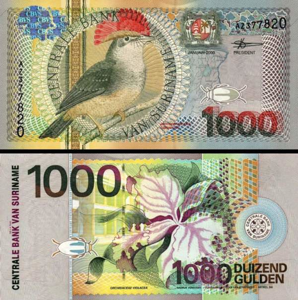 1000 Gulden Surinam 2000, P151