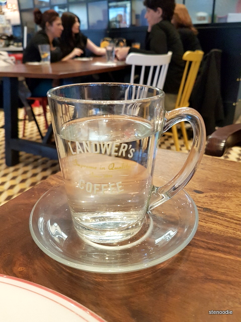 Cafe Landwer's coffee cup