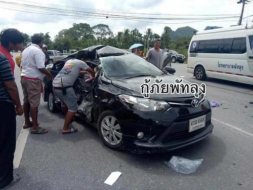 พัทลุง อุบัติเหตุหกล้อชนรถเก๋ง เด็ก 5 ขวบสาหัส (5)