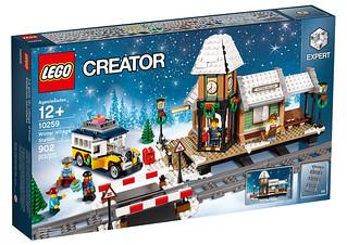 你家的冬季列車終於可以進站啦!!LEGO 10259 創意系列【冬季火車站】Winter Village Station