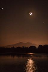 D18632E7 - Moonset Over Mount Diable